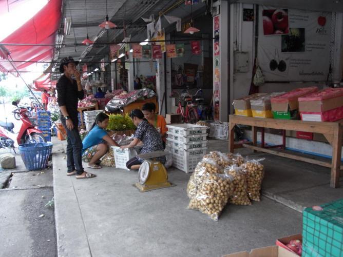 Longans au marché Thaï