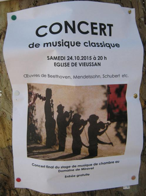 Concert stage cordes