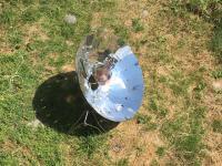 Cuisson solaire de lies de vin