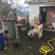 Florence distille au chalet